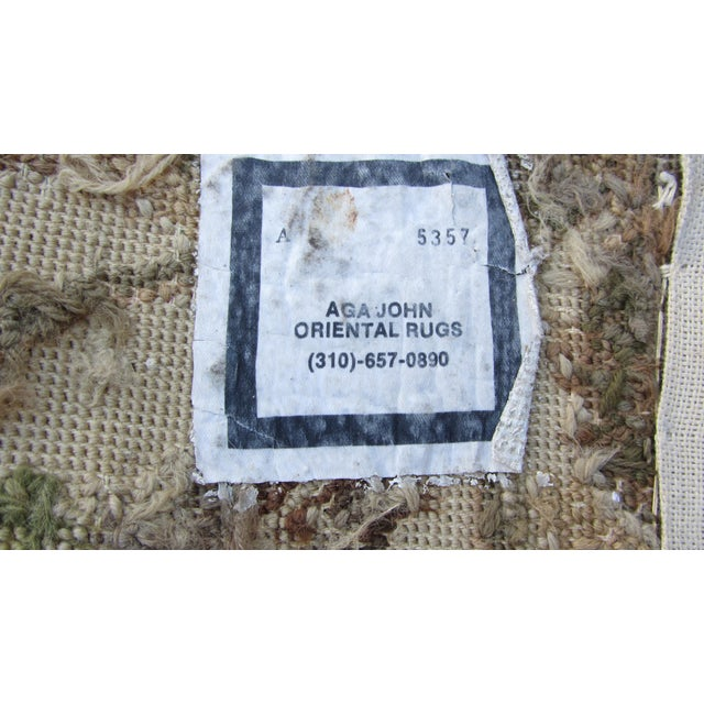 "Vintage French Aubusson Needlepoint Rug - 7' 8"" X 9'11"" - Image 10 of 11"