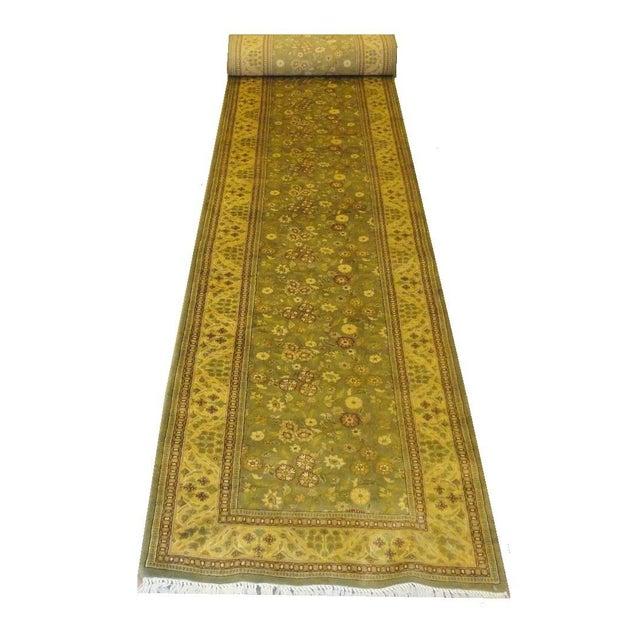 """Long Persian Tabriz Runner Rug - 2'8"""" x 20'1"""" - Image 1 of 3"""