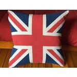 Image of Vintage British Union Jack Flag Pillow
