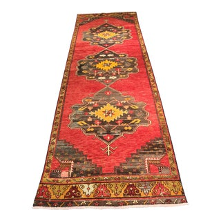 "Vintage Turkish Oushak Runner - 3'7"" X 12'6"""
