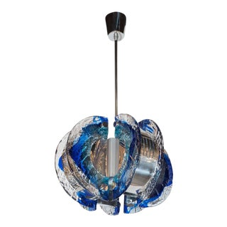 Mid-Century Modernist Murano Glass Chandelier by Angelo Brotto for Esperia