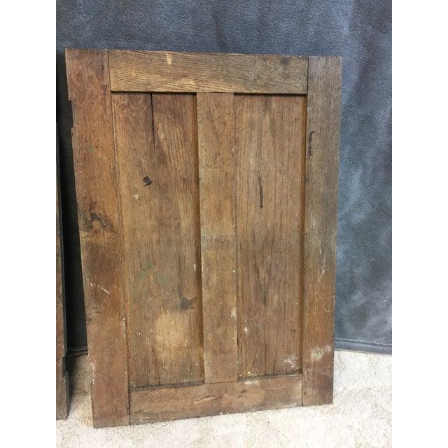 Vintage Rustic Wood Cabinet Doors - A Pair - Image 11 of 11