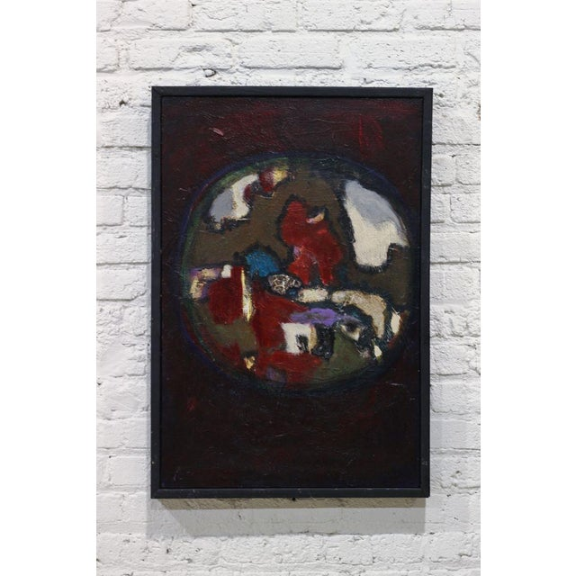 "Image of Robert Putnam ""View"" Abstract Acrylic Painting"