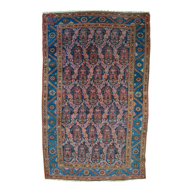 "Paisley Antique Persian Malayer Rug - 3'10"" X 6'4"" - Image 1 of 8"