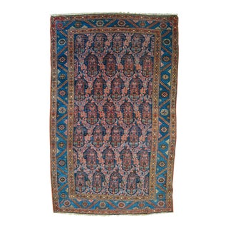 "Paisley Antique Persian Malayer Rug - 3'10"" X 6'4"""