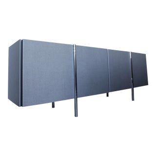 Italian Laminated Grey Chrome leg Credenza