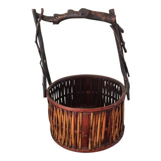 Vintage Handmade North Carolina Rustic Basket