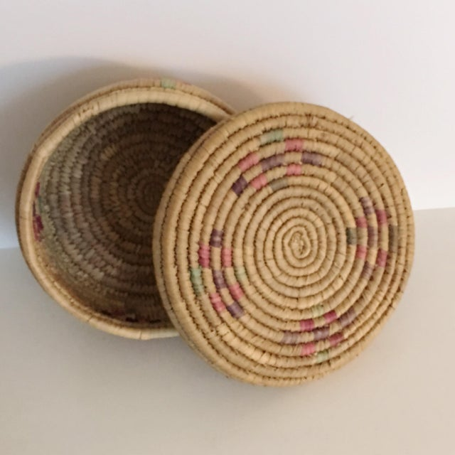 Vintage Boho Chic Hand Woven Basket - Image 7 of 7