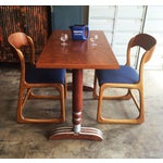 Image of French Art Deco Bistro Dining Table