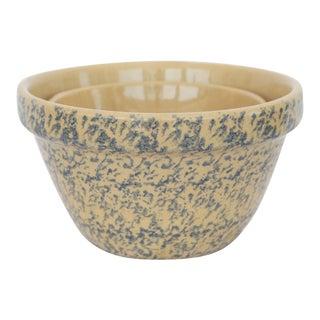 Splatterware Mixing Bowls - A Pair