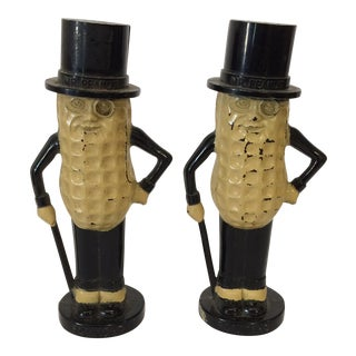 Mr. Peanut Salt & Pepper Shakers - A Pair