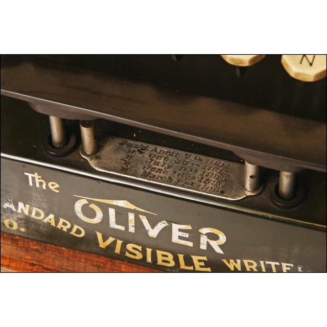 Image of Vintage Oliver No 3 Typewriter With Case & Instructions