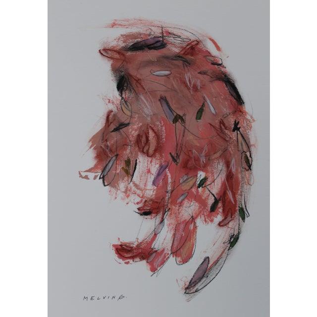 "Melvin G ""Due Piume Rosa"" Mixed Media Painting - Image 2 of 2"