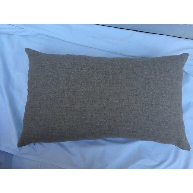 Indigo Batik Bamboo & Butterfly Pillow - Image 6 of 6