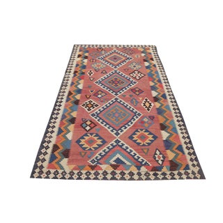 Antique Persian Gashghaie Kilim Rug- 4′10″ × 8′8″