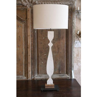 Pair of Painted Lamps