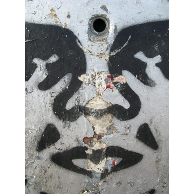 Image of Rare 90s Shepard Fairey Andre NYC Lampost Stencil