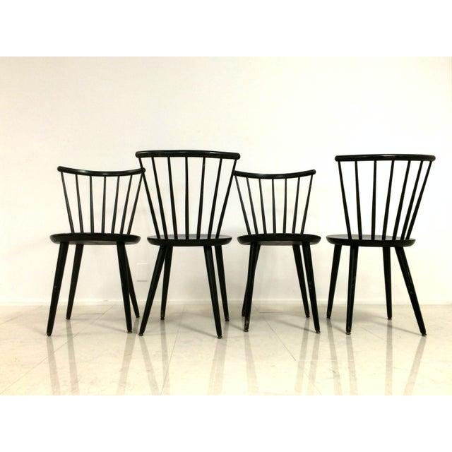 Swedish Windsor Style Dining Chairs Set Of 4 Chairish