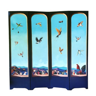 Sergio Bustamante Painted Room Screen