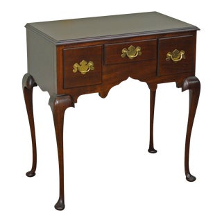 Madison Square Mahogany 3 Drawer Queen Anne Lowboy Console