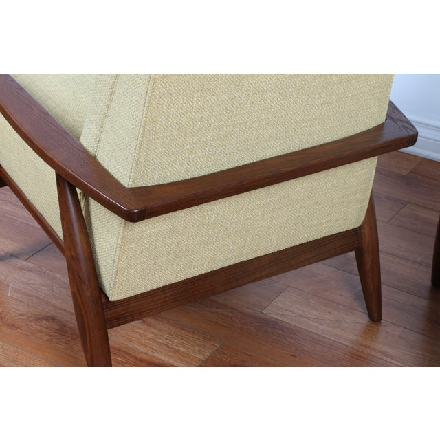 Mid-Century Ecru Lounge Chairs - A Pair - Image 7 of 11