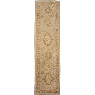 "Aara Rugs Inc. Hand Knotted Oushak Runner - 12'0"" X 3'2"""