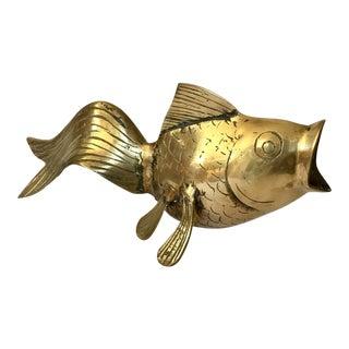 Vintage Brass Goldfish Figurine
