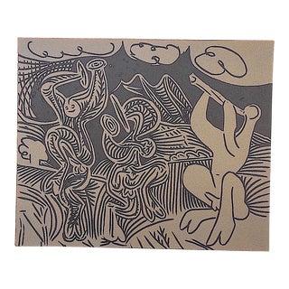 """Vintage Picasso Lithograph-""""Danseurs Et Musicien"""""""