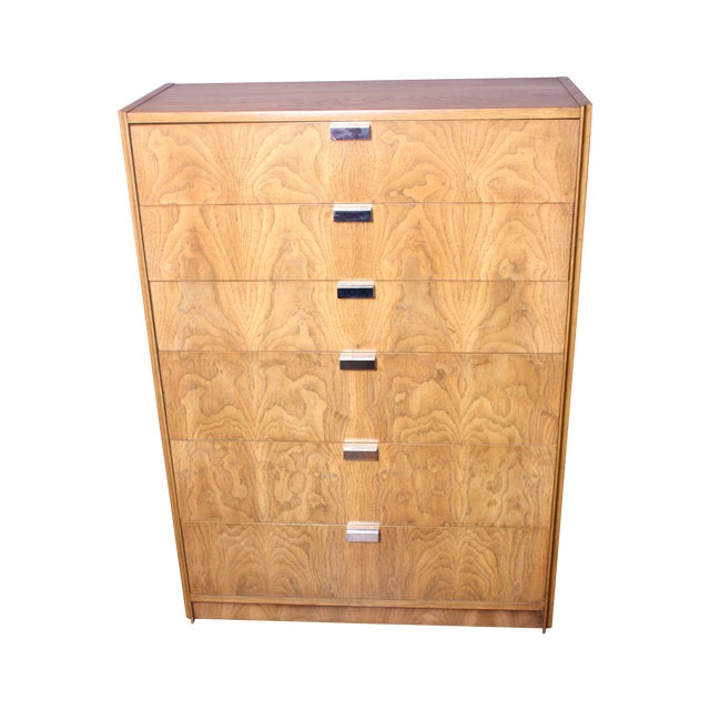 1970s Ash & Chrome Chest of Drawers by Founders - Image 1 of 7
