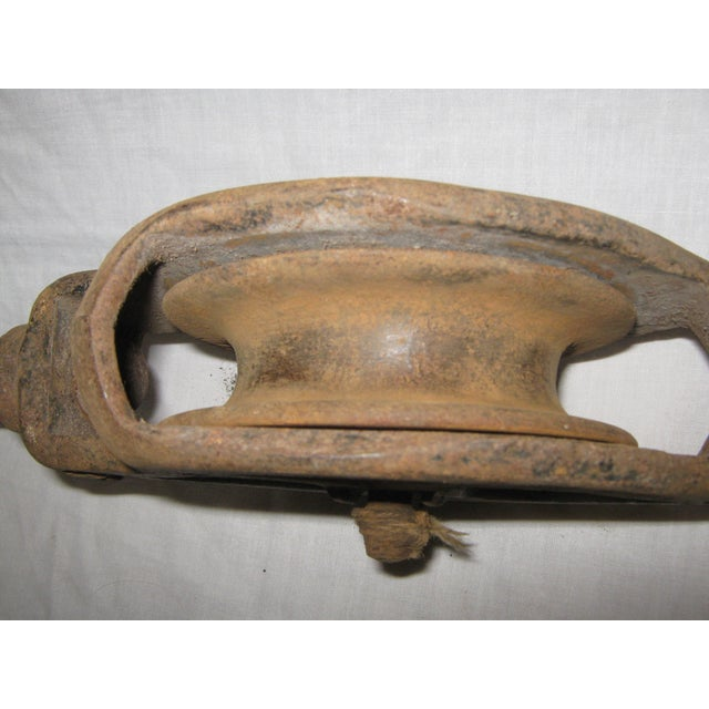 Cast Iron Pulleys For Sale : Cast iron antique pulley chairish