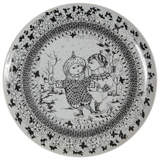 Large Rosenthal Porcelain Plate by Bjørn Wiinblad, The Seasons Series 'Winter'