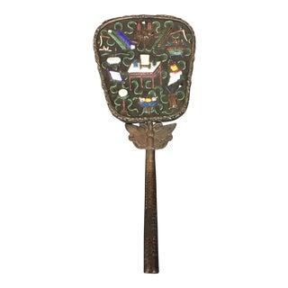 Vintage Chinese Enamel Hand Mirror