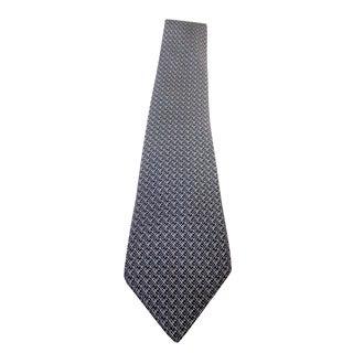 Hermes Blue & Black Classic Geometric Silk Tie