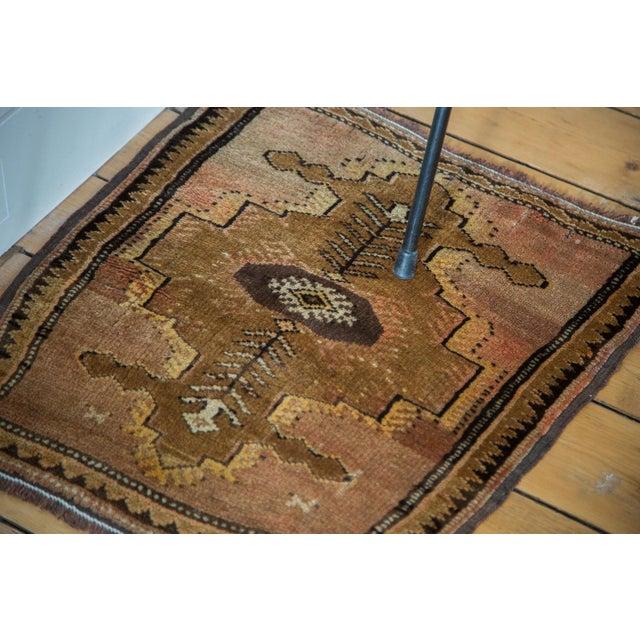 "Image of Vintage Oushak Square Rug Mat - 1'10"" X 2'"