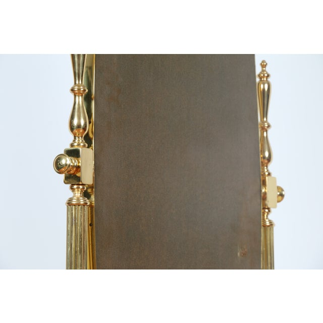 Gold Brass Vintage Floor Mirror - Image 10 of 11