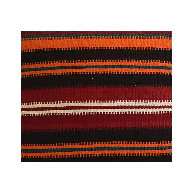 """20"""" Custom Tailored Anatolian Turkish Kilim Wool Feather/Down Pillows - a Pair - Image 9 of 11"""