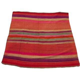 "Hand-Spun Wool Frazada Rug -- 5'1"" x 5'2"""