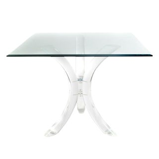 1970S SABRE-LEG LUCITE TABLE BY CHARLES HOLLIS JONES