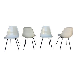 1958 Eames for Herman Miller Parchment Shell Chairs - Set of 4