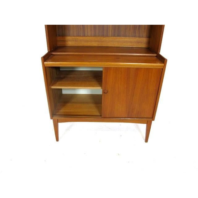 Vintage Danish Modern Teak Secretary Bookcase - Image 2 of 4