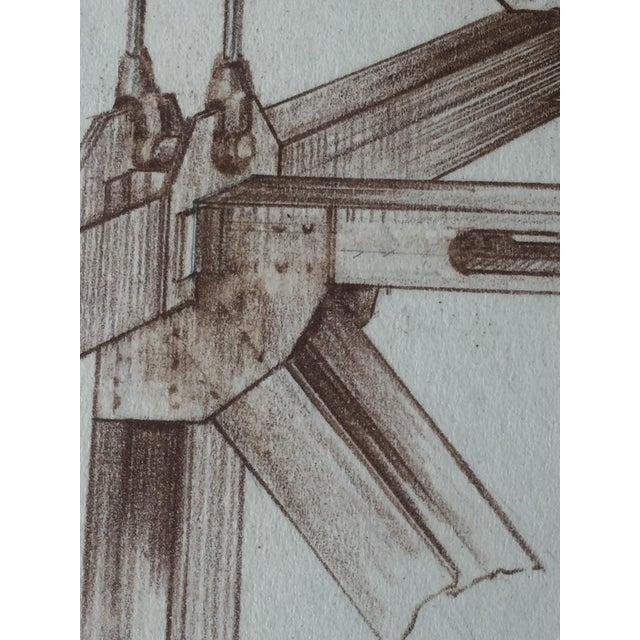 Mid-Century Golden Gate Bridge Architectural Sketch - Image 3 of 9