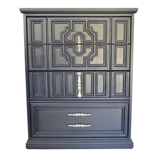 Navy Blue Highboy Dresser