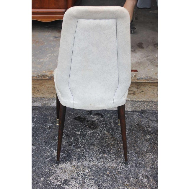 Suite of Six French Art Deco/Art Modern Solid Mahogany Dining Chairs. - Image 9 of 10