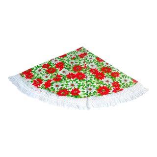 Round Christmas Poinsettia Tablecloth