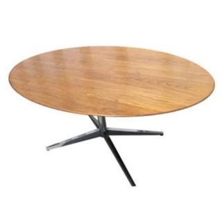 Vintage Florence Knoll Oval Walnut Table