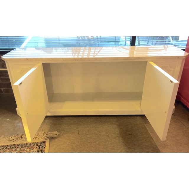 Marble Topped Small Credenza - Image 3 of 6