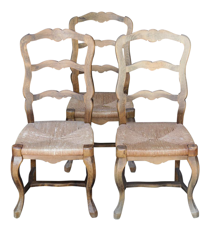 French Country Style Chairs   Set Of 3
