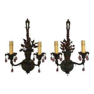 French 1930s Painted Sconces - A Pair