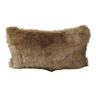 Faux Red Fox Fur Pillow