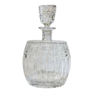 Cut Pressed Glass Decanter